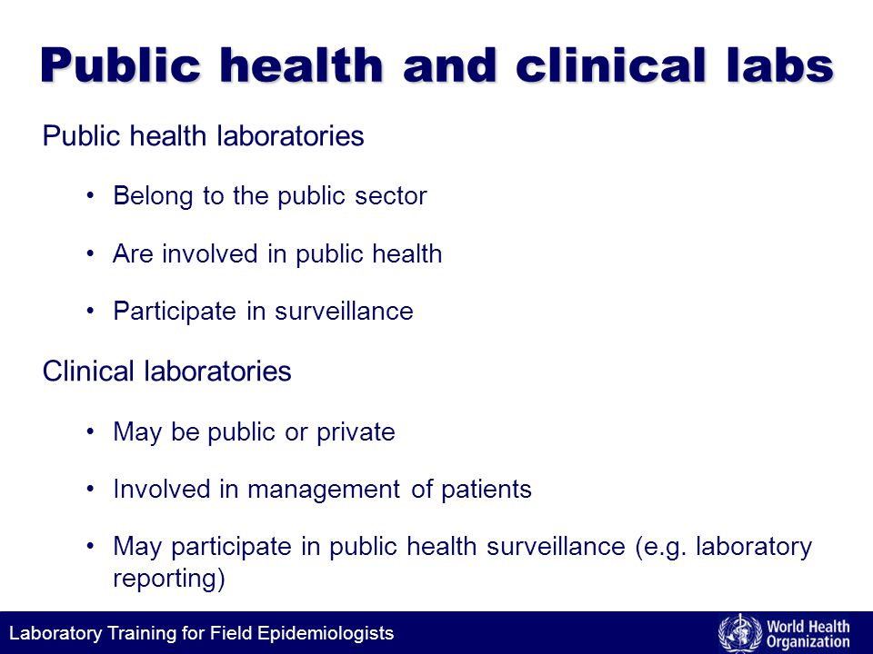 Public health and clinical labs