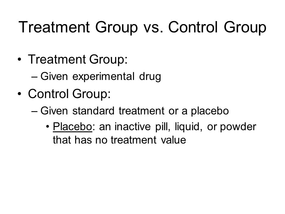 Treatment Group vs. Control Group