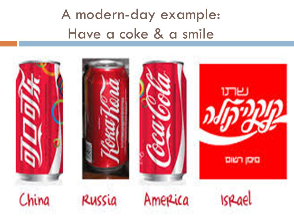 A modern-day example: Have a coke & a smile