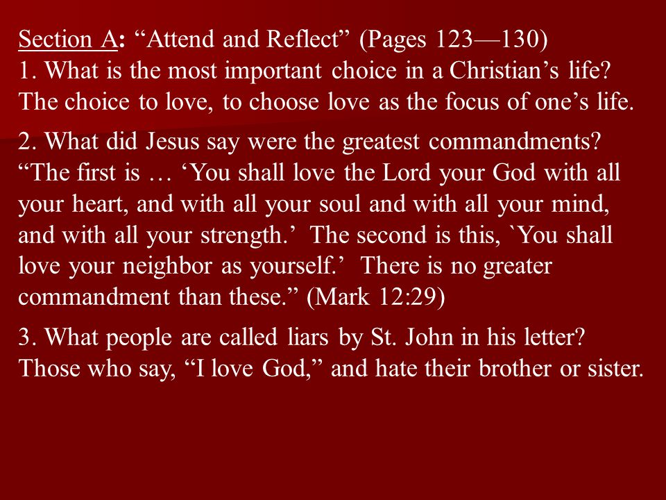 Section A: Attend and Reflect (Pages 123—130)