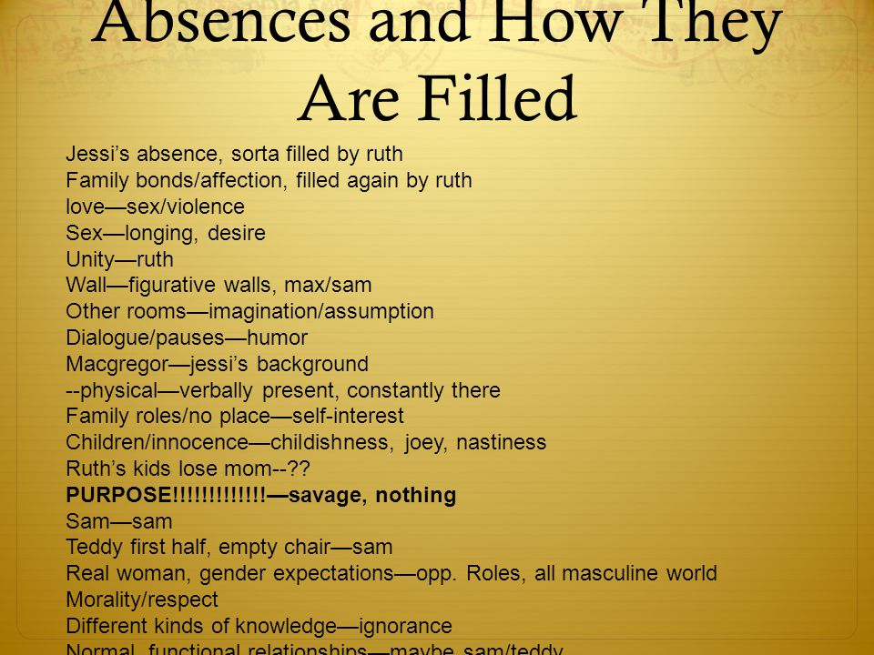 absence poem analysis