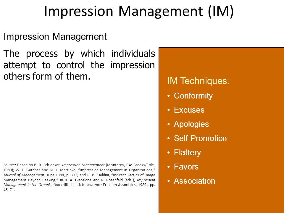 what is impression management