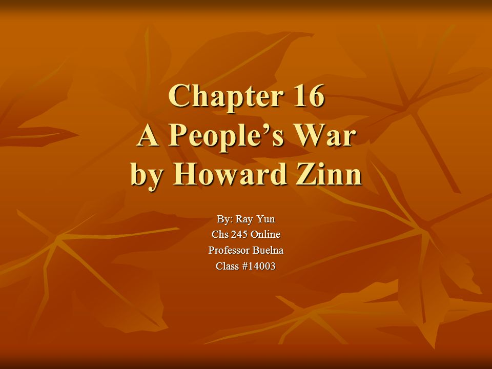 zinn chapter 18 summary