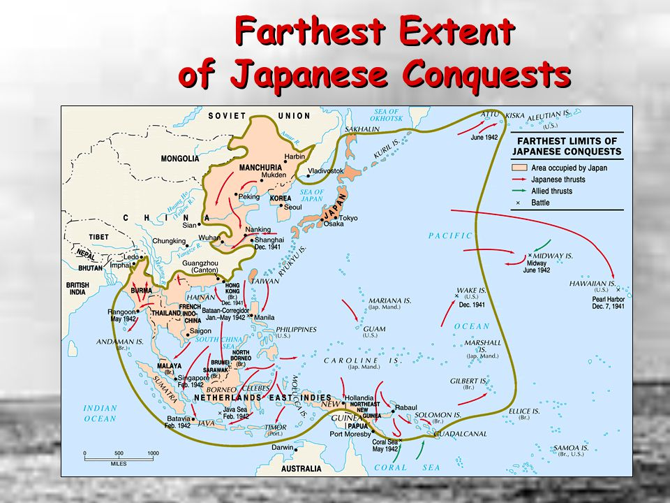 Farthest Extent of Japanese Conquests