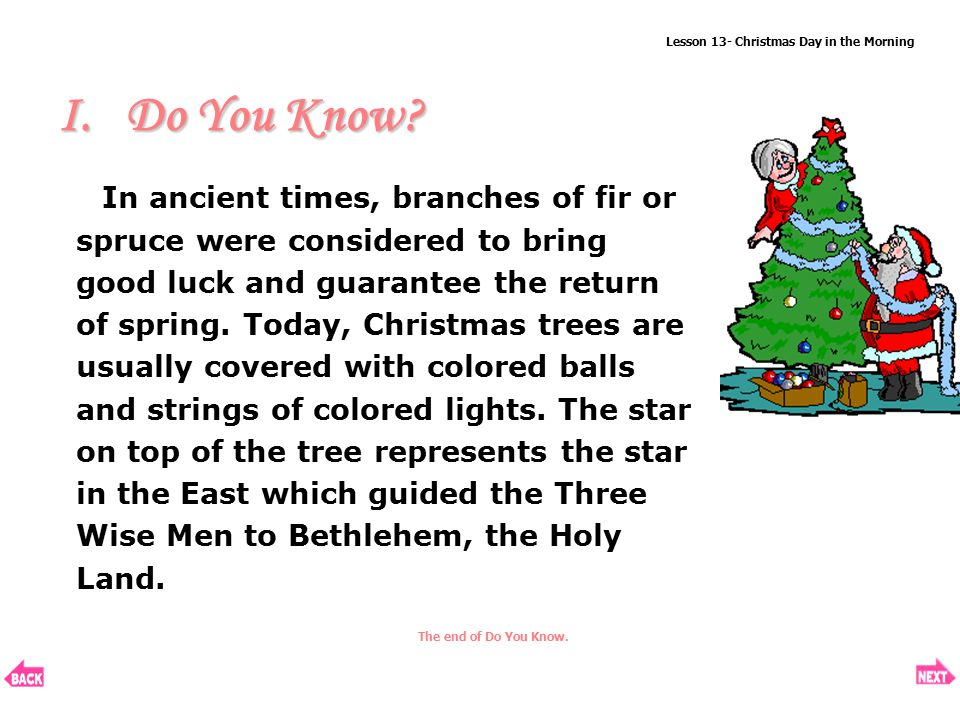 Lesson 13 Christmas Day In The Morning Ppt Download