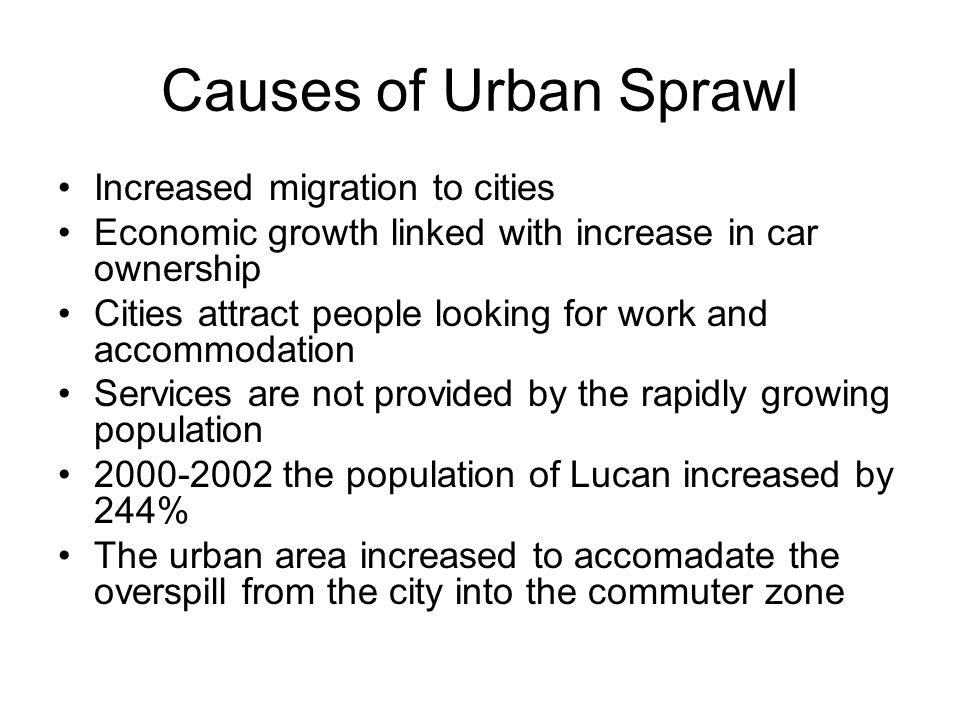 causes of urban migration