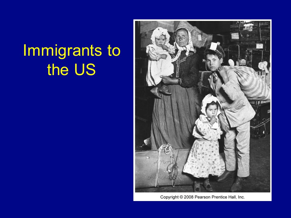 Immigrants to the US