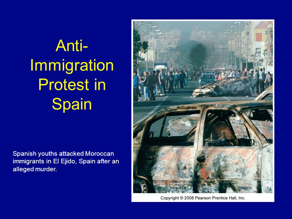 Anti-Immigration Protest in Spain