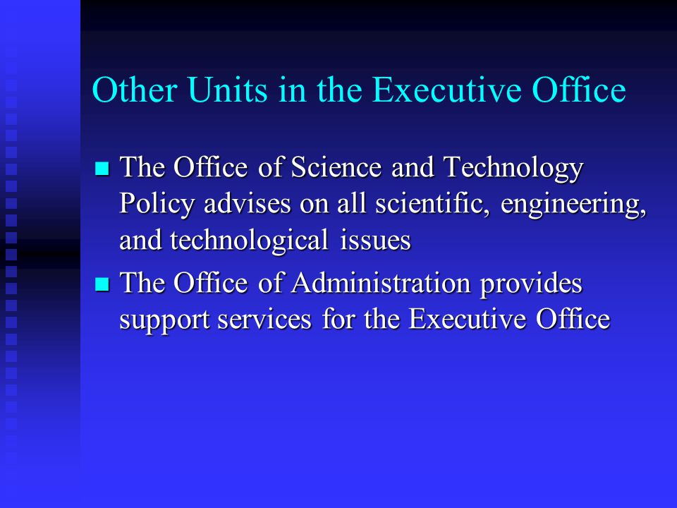 Other Units in the Executive Office
