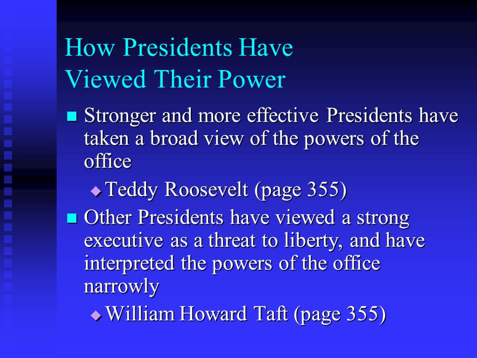 How Presidents Have Viewed Their Power