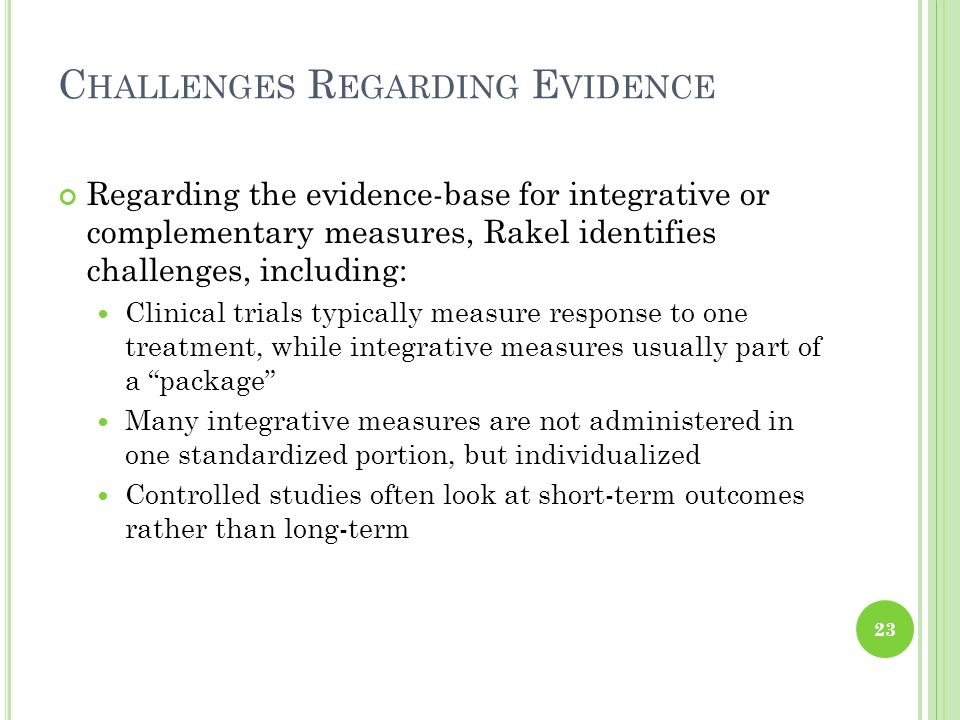 Challenges Regarding Evidence