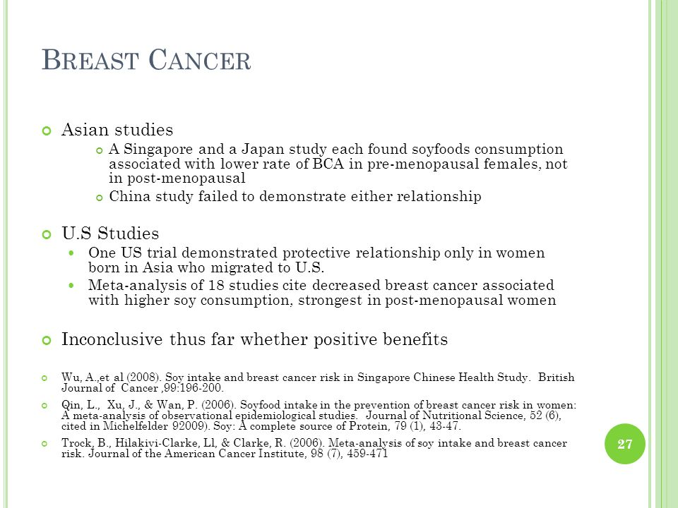 Breast Cancer Asian studies U.S Studies
