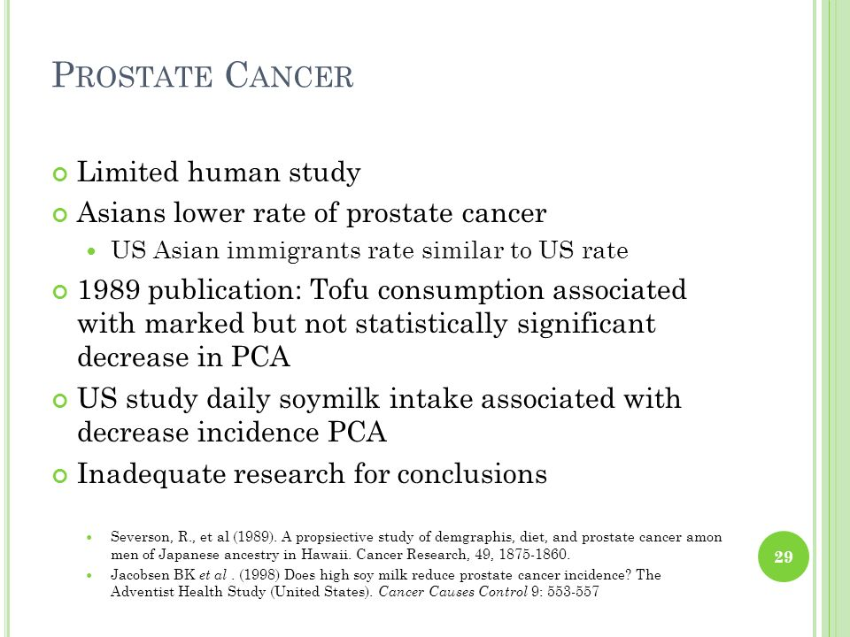 Prostate Cancer Limited human study