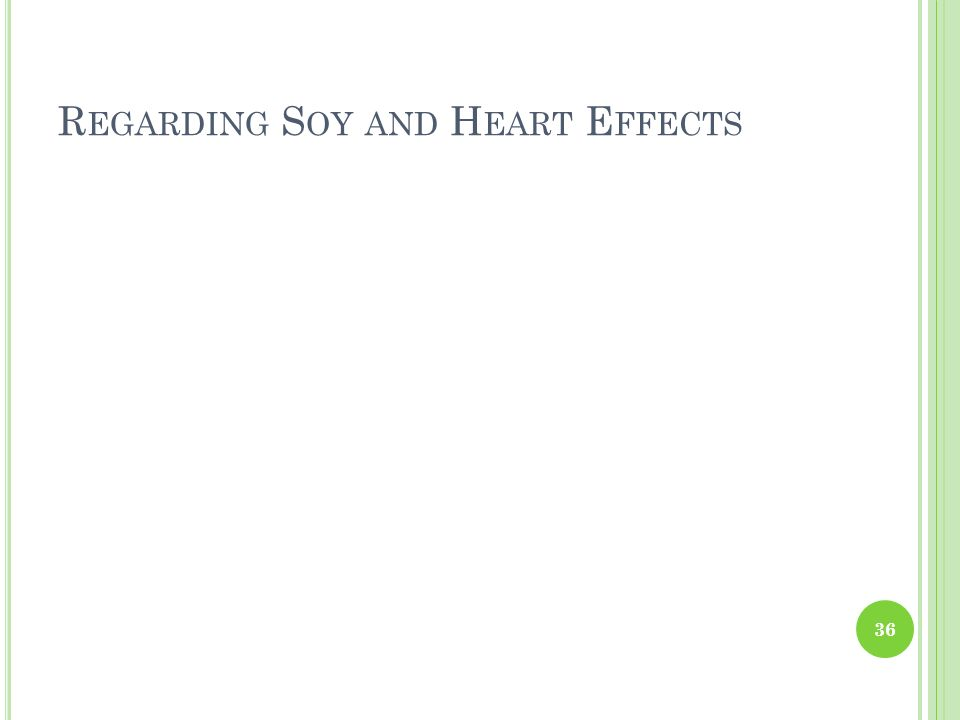 Regarding Soy and Heart Effects