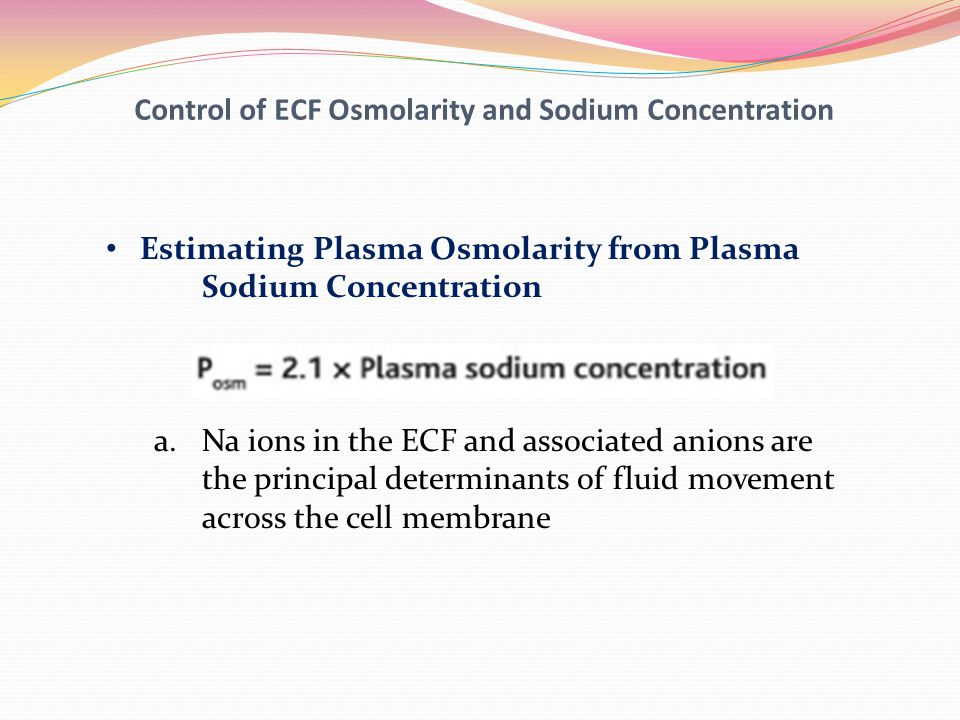 Control of ECF Osmolarity and Sodium Concentration