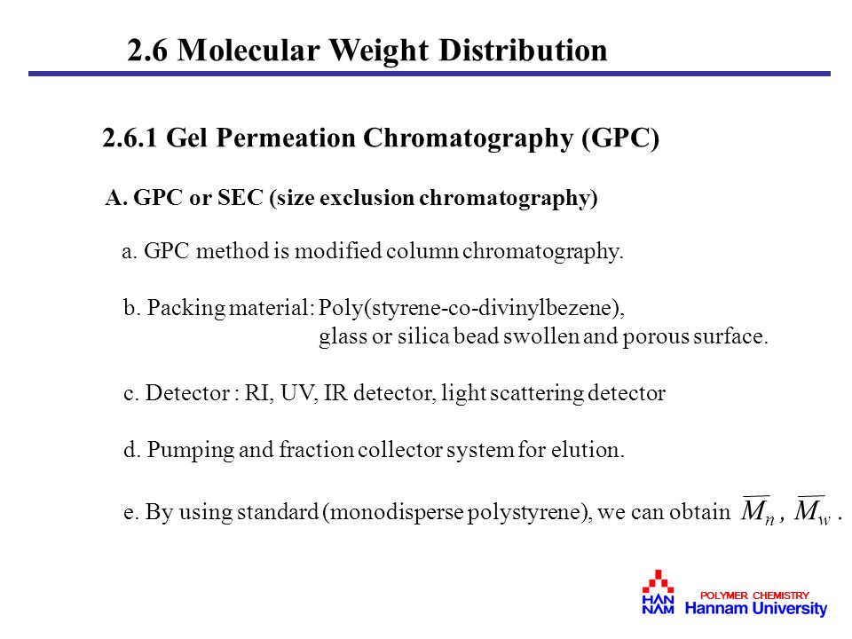 Chapter 2 Molecular Weight And Polymer Solutions Ppt