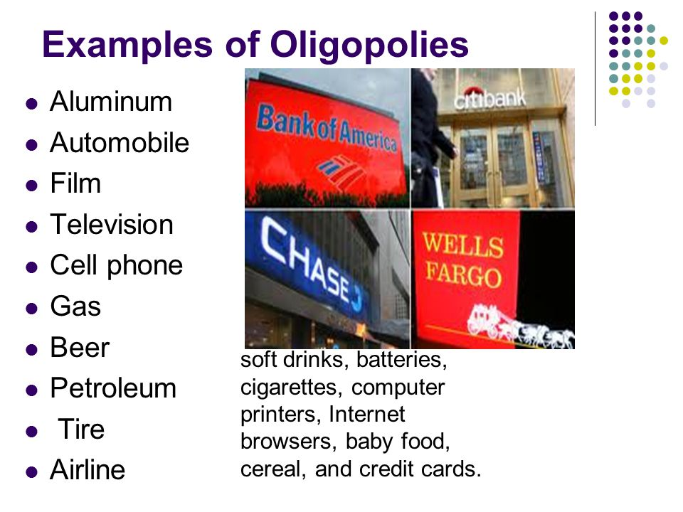 Oligopoly definition | 7 examples and 6 characteristics | boycewire.