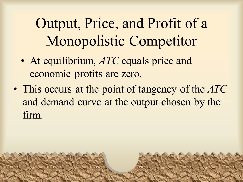 Output, Price, and Profit of a Monopolistic Competitor