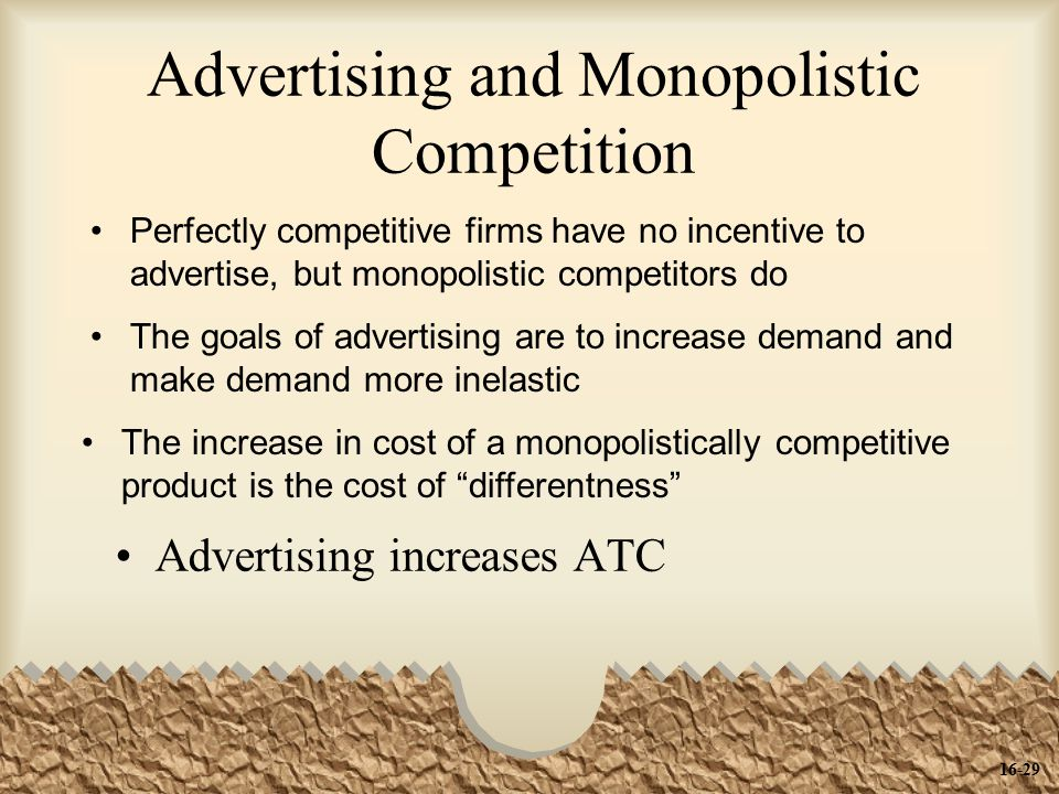 Advertising and Monopolistic Competition