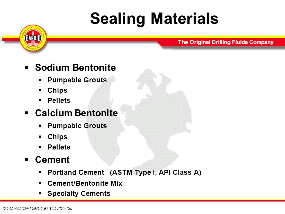 Baroid Bentonite