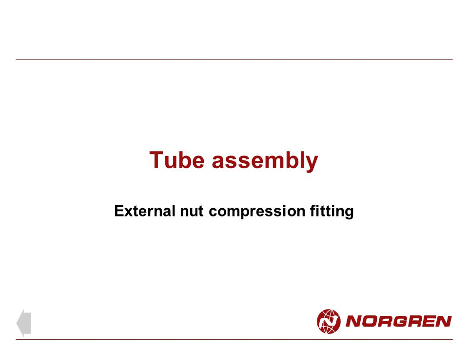External nut compression fitting
