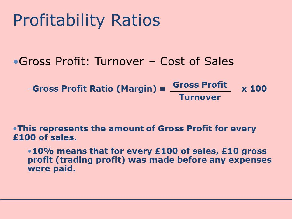 how to work out gross profit margin
