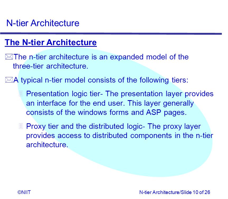 The N-tier Architecture