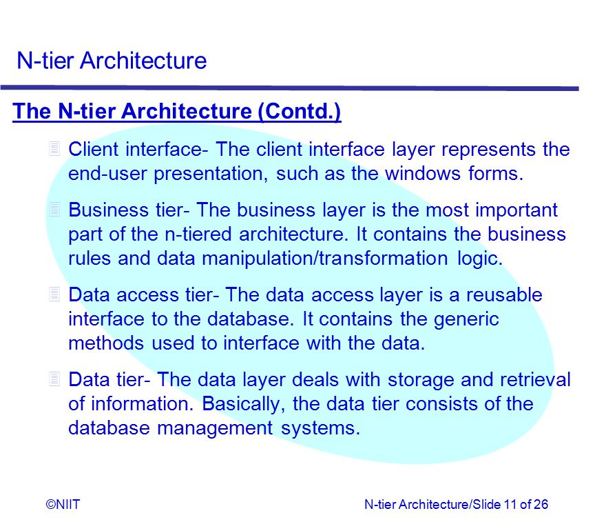 The N-tier Architecture (Contd.)