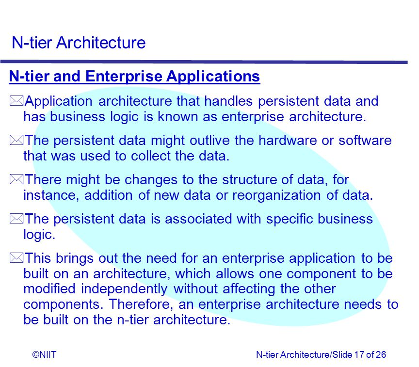 N-tier and Enterprise Applications