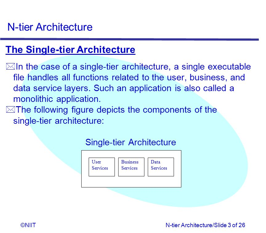 Single-tier Architecture