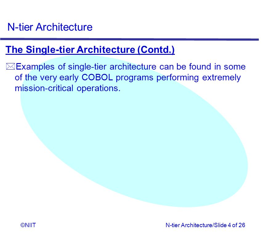 The Single-tier Architecture (Contd.)