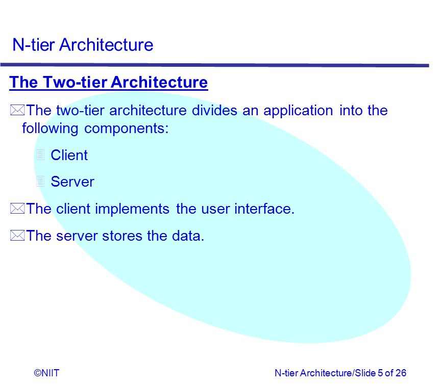 The Two-tier Architecture