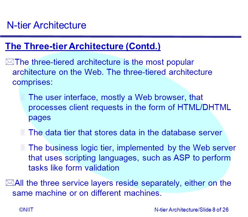 The Three-tier Architecture (Contd.)