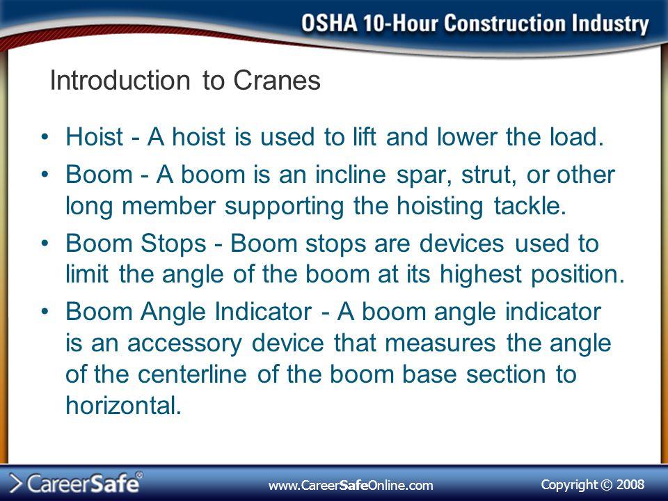 Crane Safety, Subpart N - ppt video online download