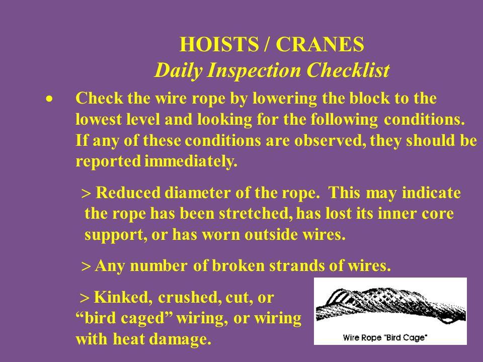 daily crane inspection checklist pdf