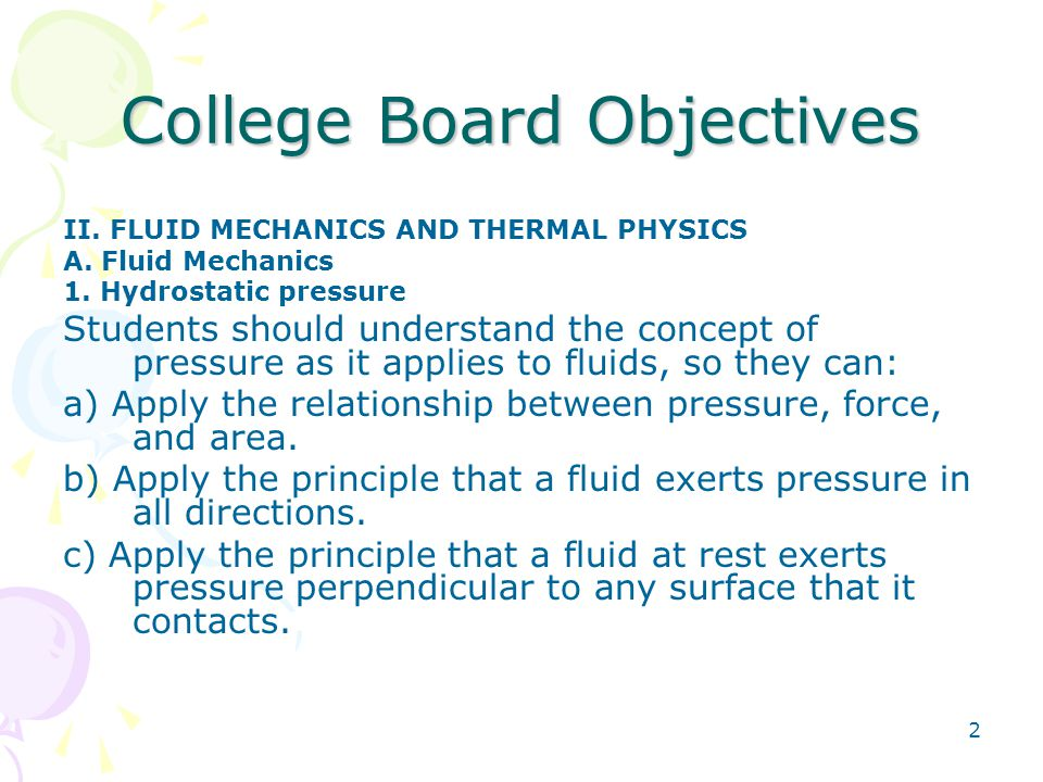 College Board Objectives