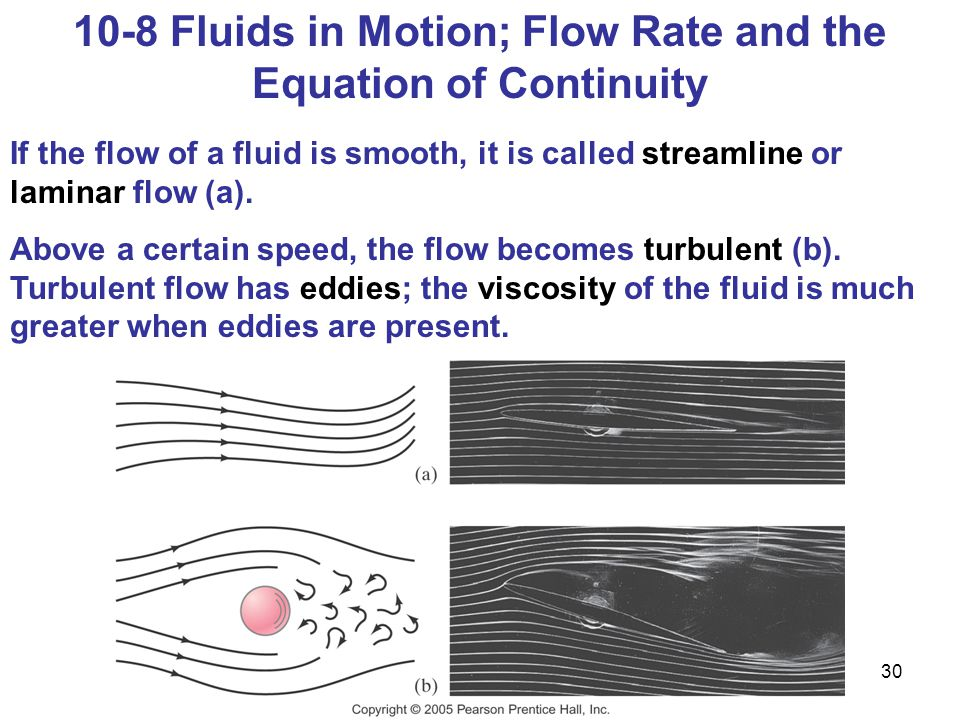 10-8 Fluids in Motion; Flow Rate and the Equation of Continuity