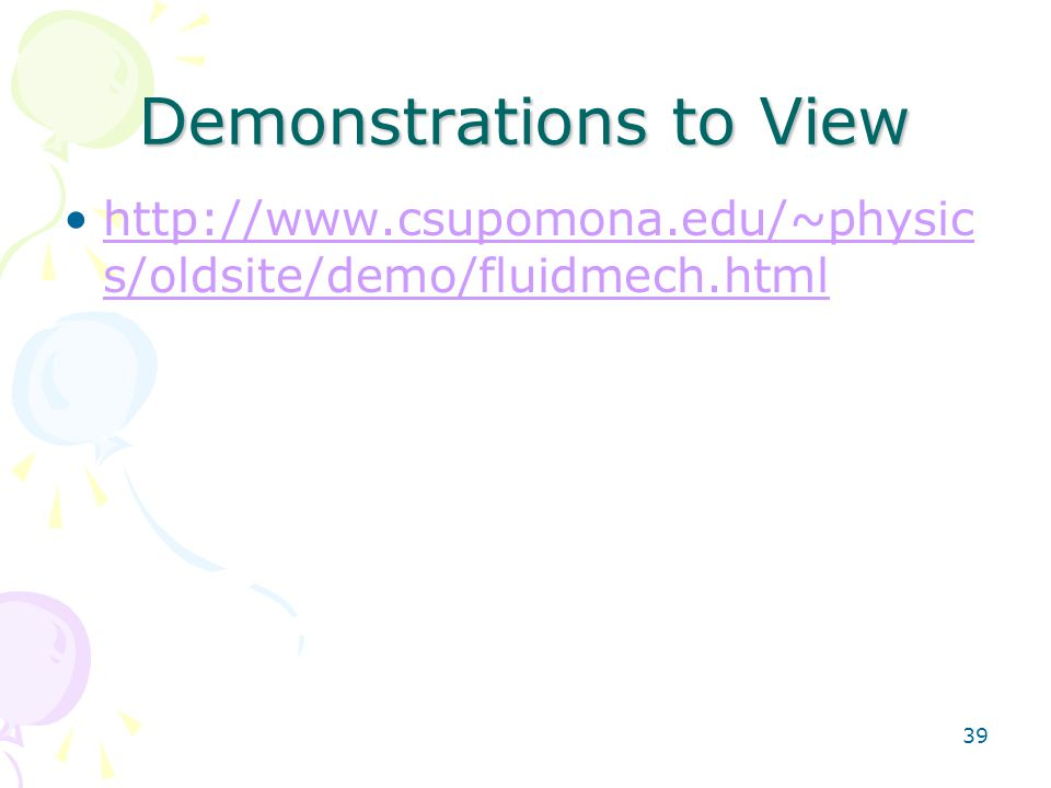 Demonstrations to View