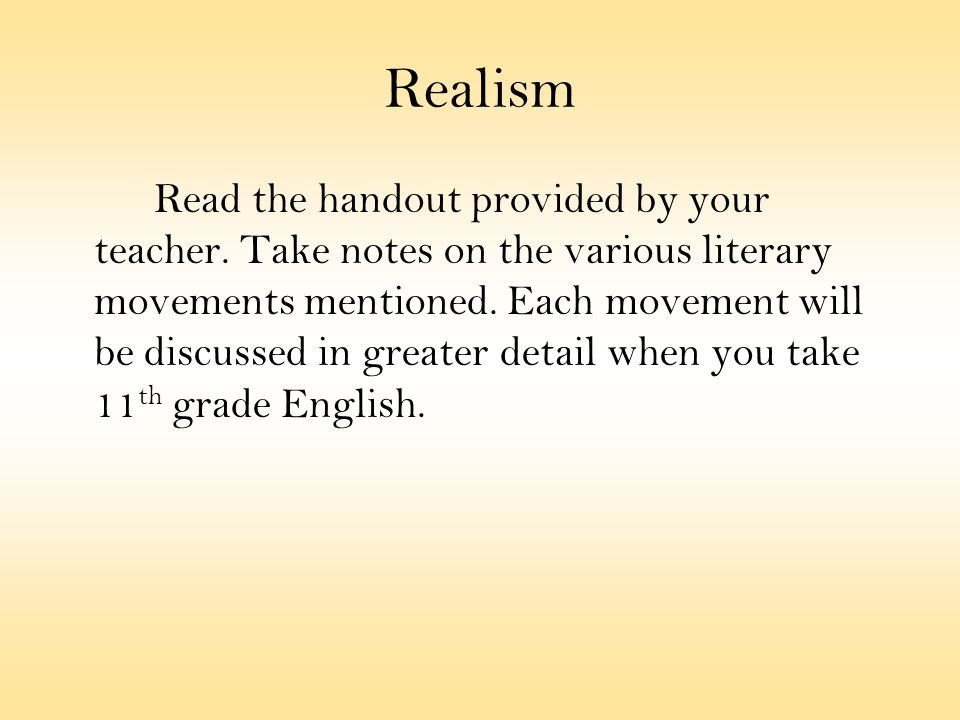 The Red Badge Of Courage  Ppt Video Online Download  Realism  Essay Reflection Paper Examples also High School Essays Examples  Thesis Statement Argumentative Essay