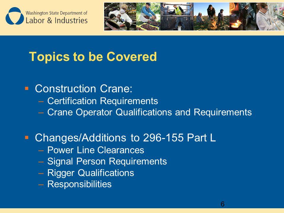WAC Part L Construction Cranes, Rigging, and Personnel Lifting - ppt ...