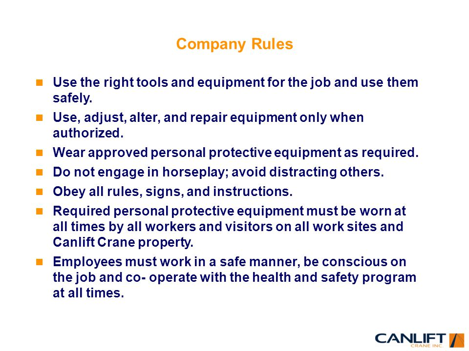 Workplace rules not approved - 2 part 8