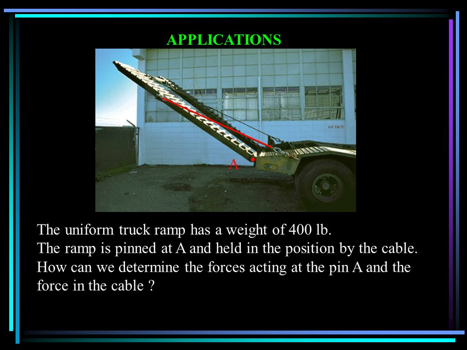 The uniform truck ramp has a weight of 400 lb.