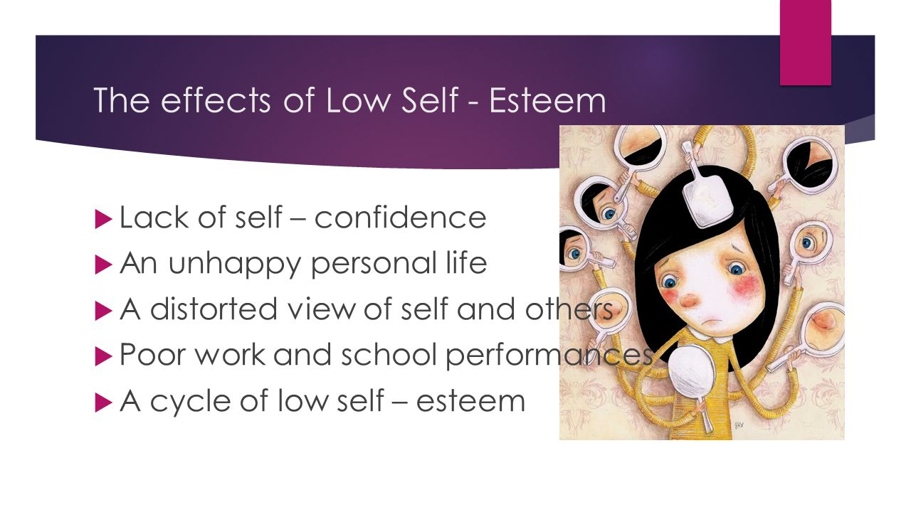 The effects of Low Self - Esteem