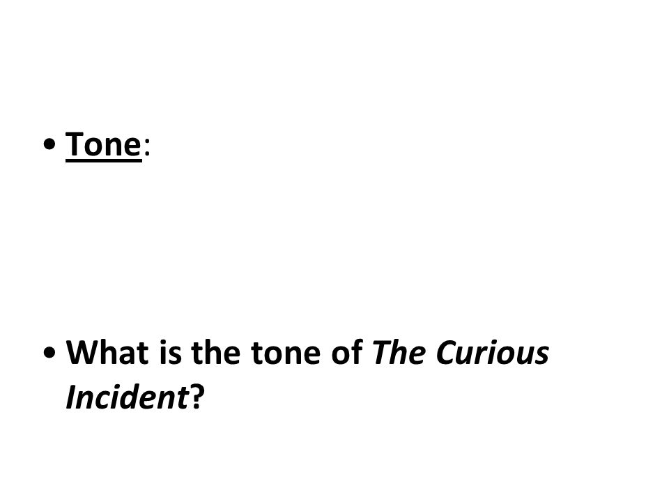 Symbol: Give an example of a symbol in The Curious Incident