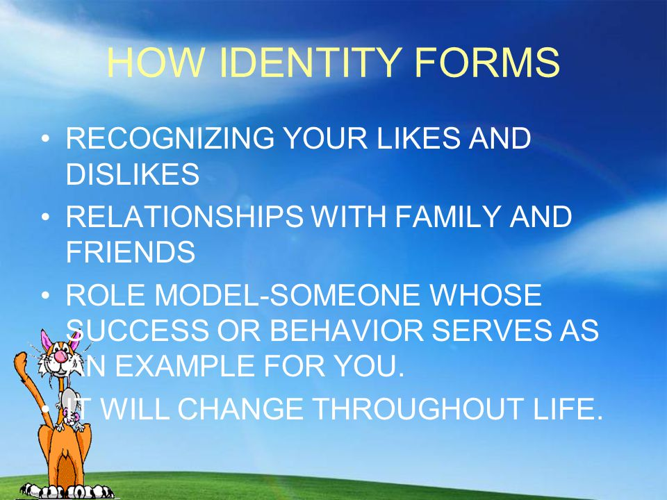 HOW IDENTITY FORMS RECOGNIZING YOUR LIKES AND DISLIKES