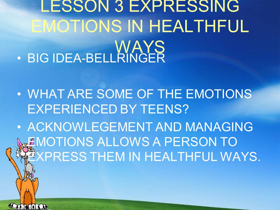 LESSON 3 EXPRESSING EMOTIONS IN HEALTHFUL WAYS