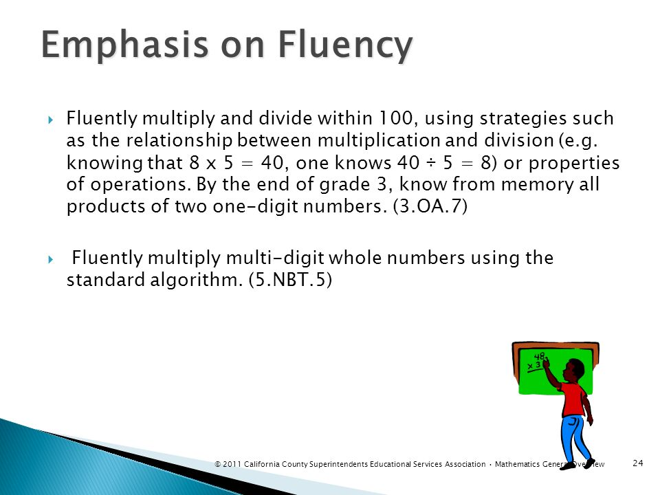 Emphasis on Fluency