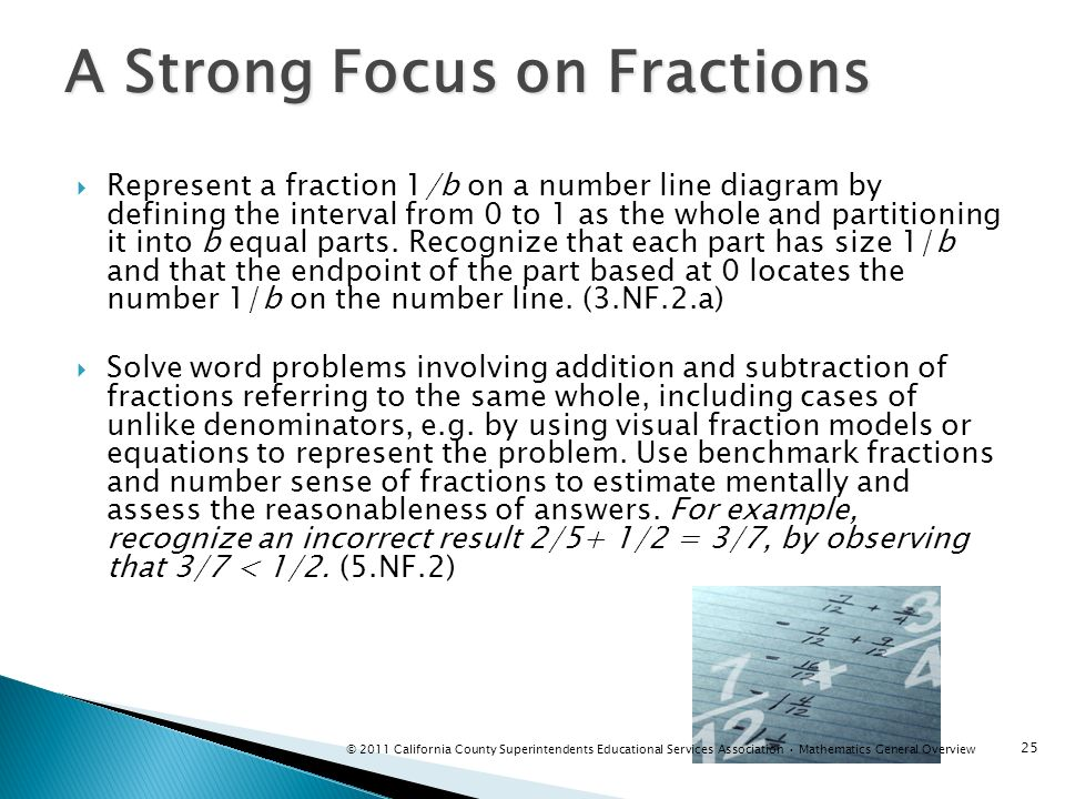 A Strong Focus on Fractions