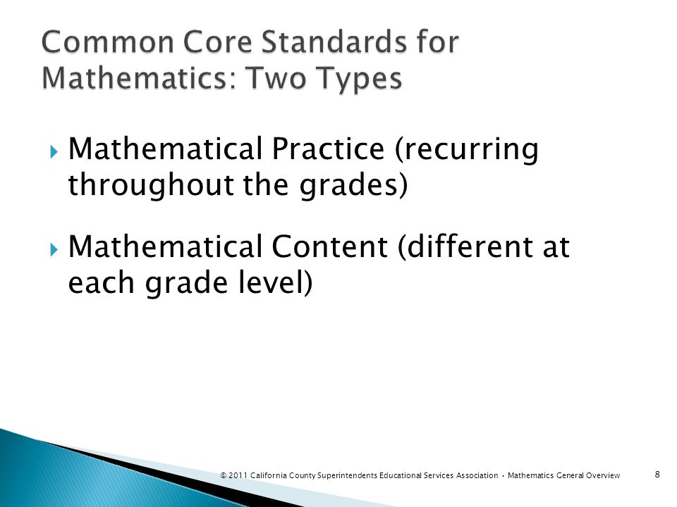 Common Core Standards for Mathematics: Two Types