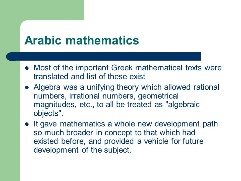 Arabic Mathematics Indian Mathematics And Zero Ppt Download
